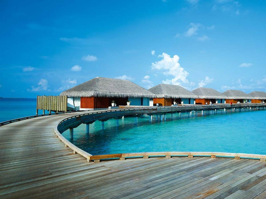Sunset Deluxe Water Pool Villa Velaa Private Island Maldives