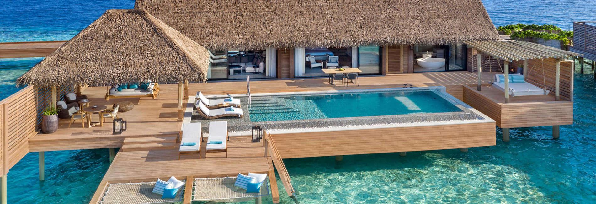 Grand Over Water Villa with Pool Waldorf Astoria Maldives Ithaafushi