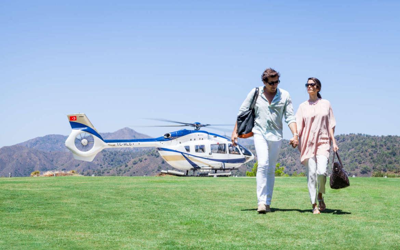 Новый вертолет для гостей D Hotel Maris