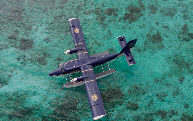 velaa private island seaplane