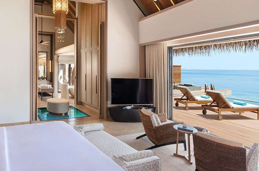 Grand Ower Water Villa with Pool Waldorf Astoria Maldives Ithaafushi
