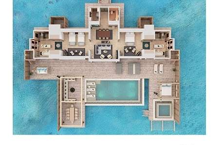 Two Bedroom Over Water Villa with Pool Waldorf Astoria Maldives Ithaafushi