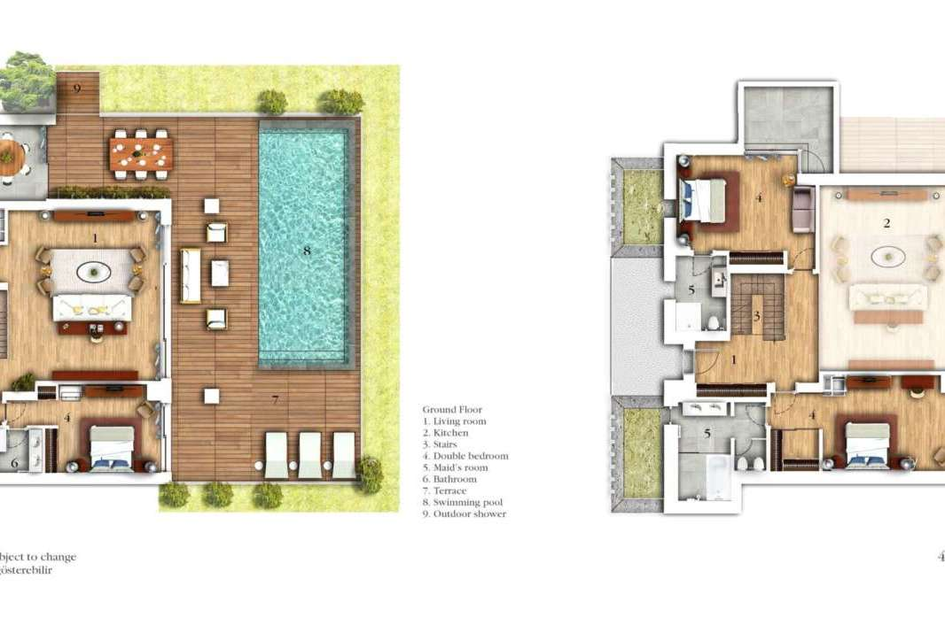 FOUR BEDROOM DUPLEX APARTMENT WITH POOL